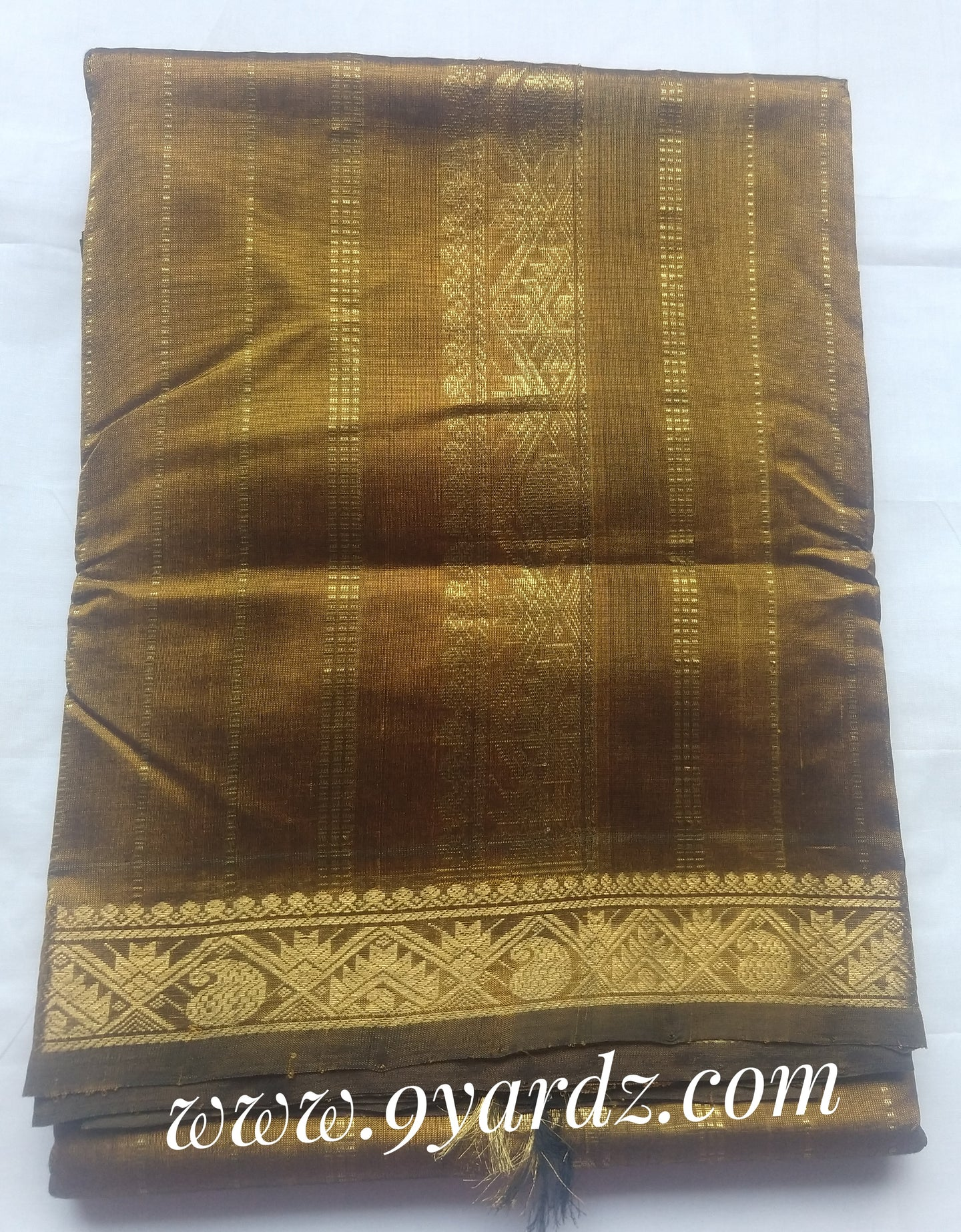Pure silk cotton - Golden brown Self