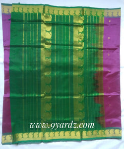 Pure Silk cotton - magenta by green
