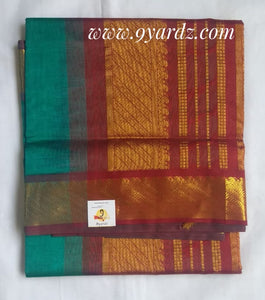 Pure silk cotton - Metallic green by maroon(madisar)