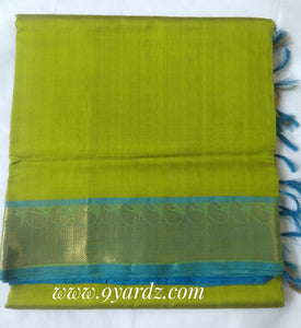 Pure Silk cotton - Pale olive green by blue