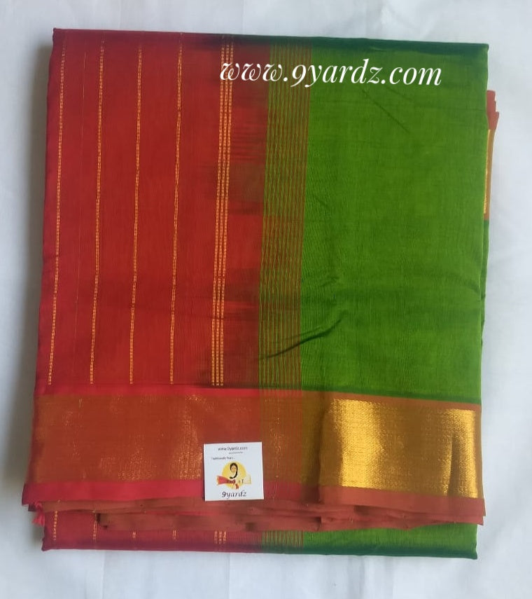 Pure silk cotton  - Parrot green by Red