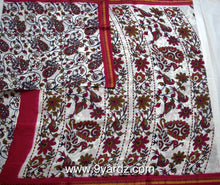 Load image into Gallery viewer, White based kalamkari - 10.5 yards