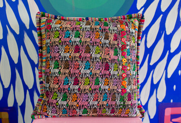 Hand-loomed Vibrant Colored Pillow