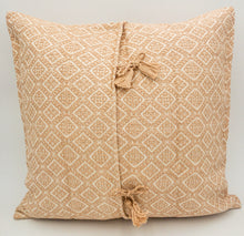 "Load image into Gallery viewer, Hand-Loomed Blush Geometric Pillow- 20""x20"""