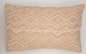 Hand-Loomed Blush Geometric Pillow- 14