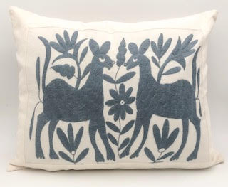 SOLD Hand-Made Blue Otomi Pillow