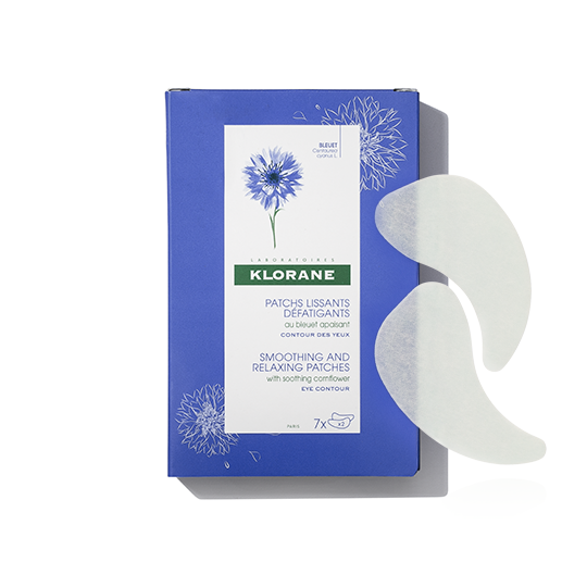 Klorane Wild Cornflower Smoothing and Relaxing Patches for Tired Eyes