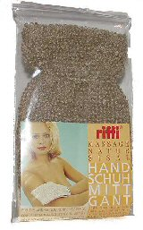 Riffi Indian Flax/Natural Cotton Massage Mitt 202