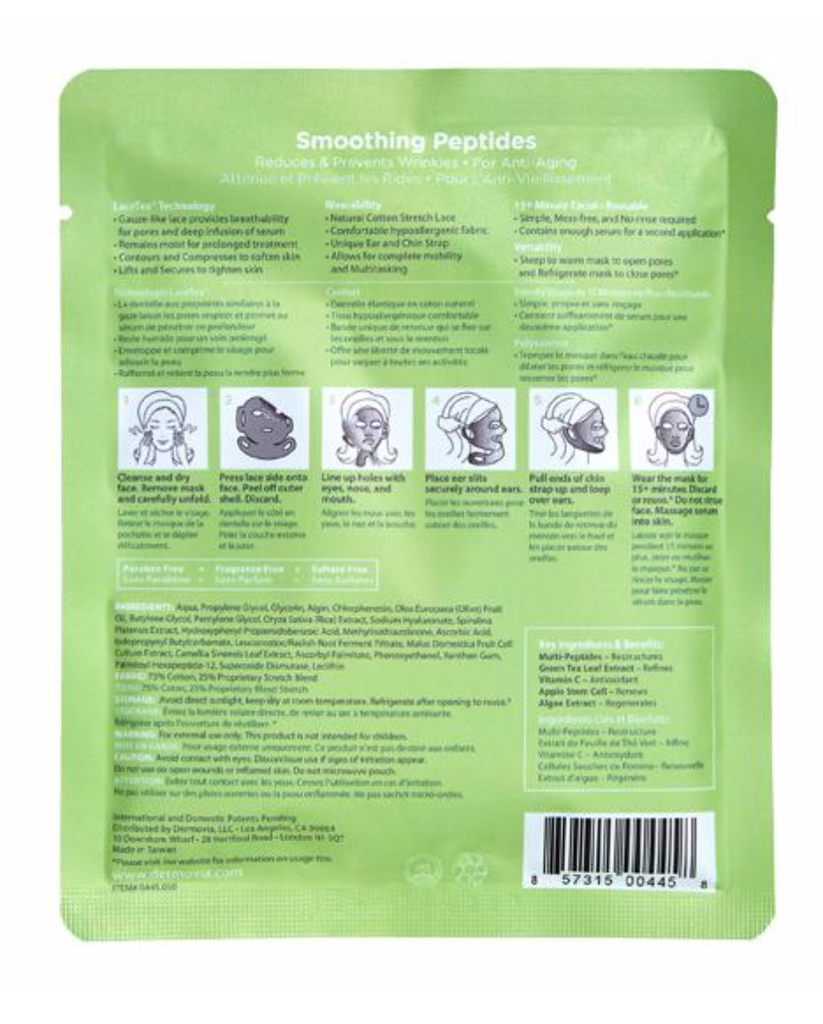 Dermovia Lace Your Face Facial Masks - Smoothing Peptides