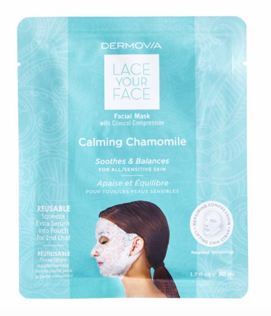 Dermovia Lace Your Face Facial Masks - Calming Chamomile