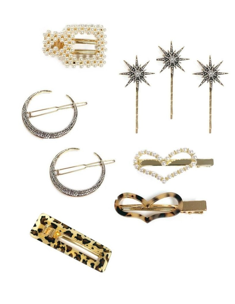 Marlyn Schiff Embellished Hair Clips