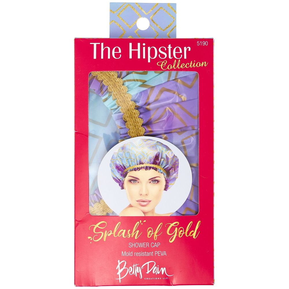 Betty Dain Creations Shower Cap Splash of Gold