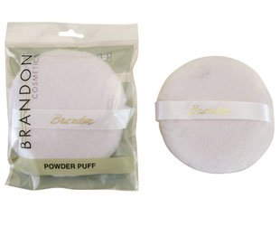 Brandon Powder Puffs White (9327), 3.5 inch