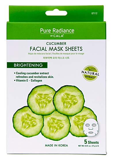 Cala Pure Radiance Cucumber Facial Masks