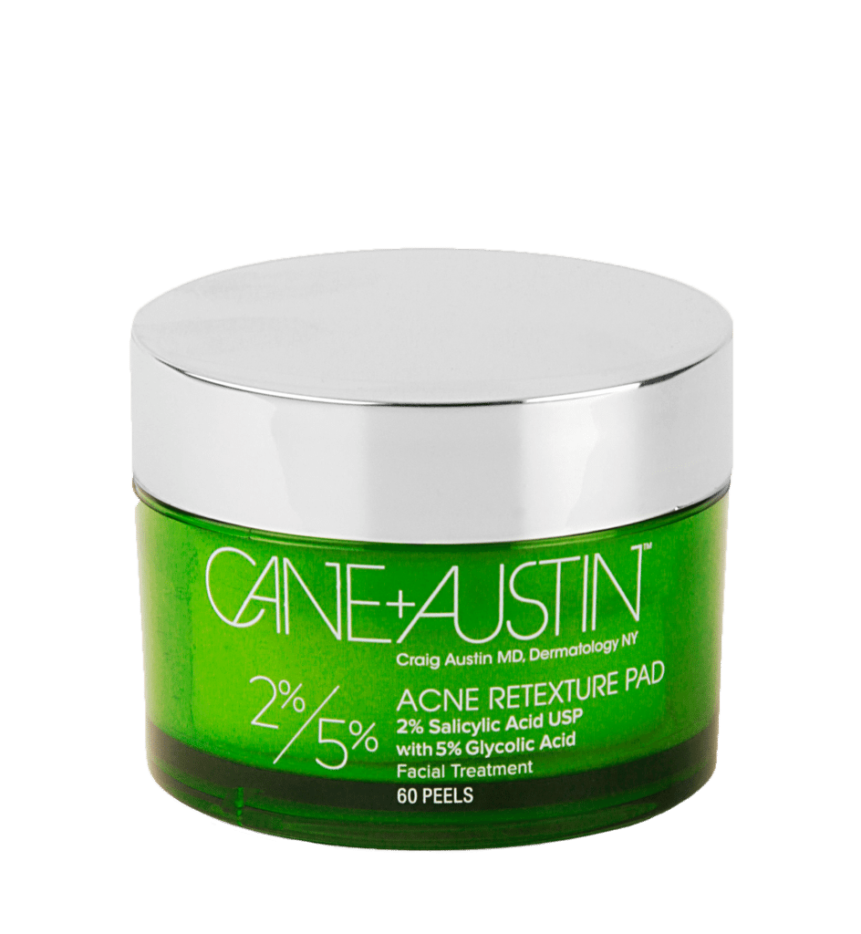 Cane + Austin ACNE RETEXTURE PAD + 2% SALICYLIC ACID and 5% GLYCOLIC ACID