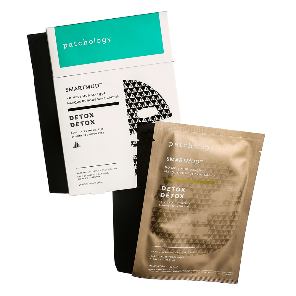 SmartMud® No Mess Mud Masque: Detox Sheet Mask, Box of 4