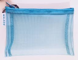 Mesh Zip Cosmetic Pouch