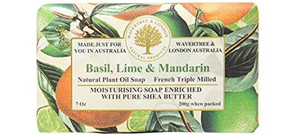 Wavertree & London Basil, Lime & Mandarin French Milled Soap