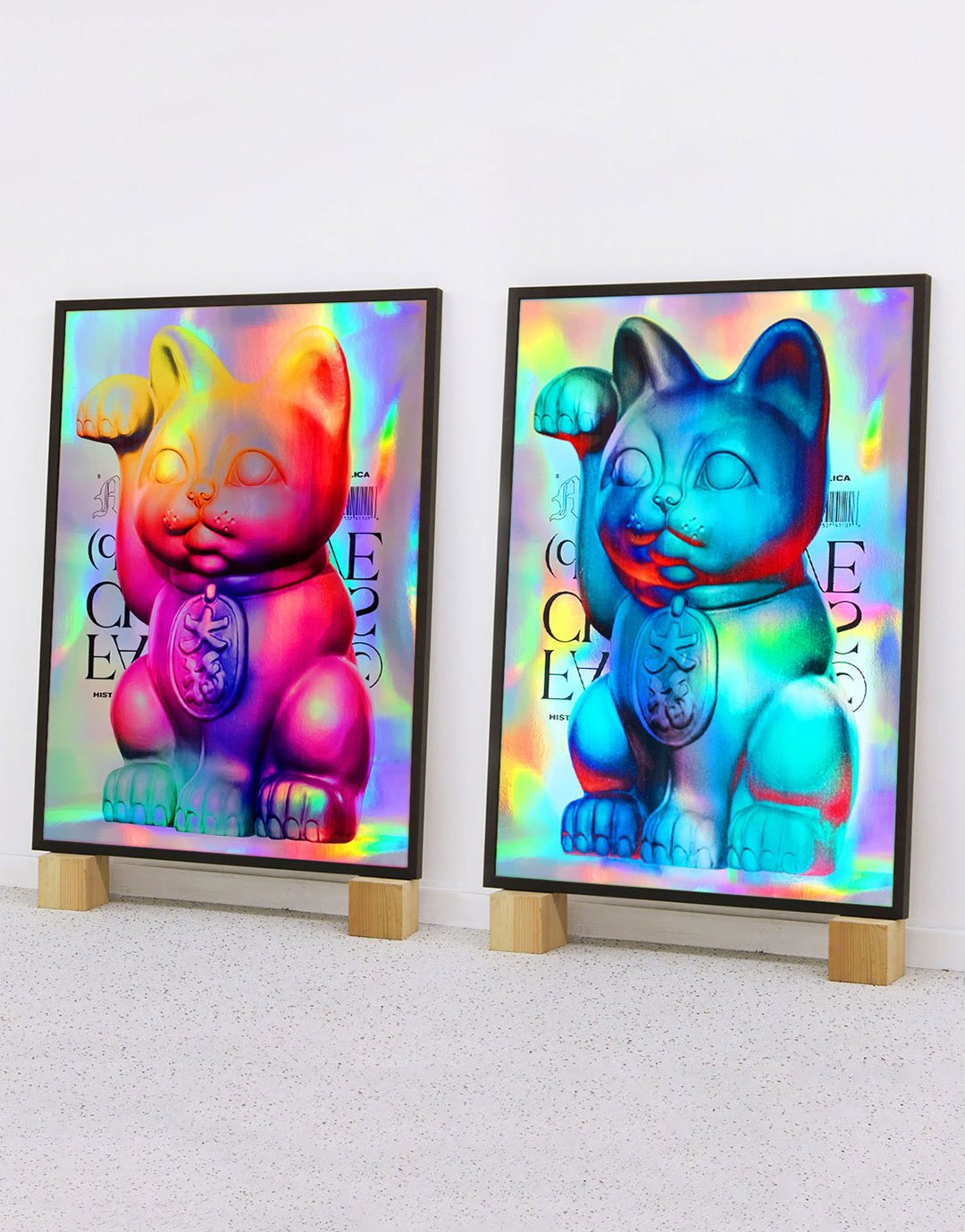 Holographic Maneki-Neko (SET)