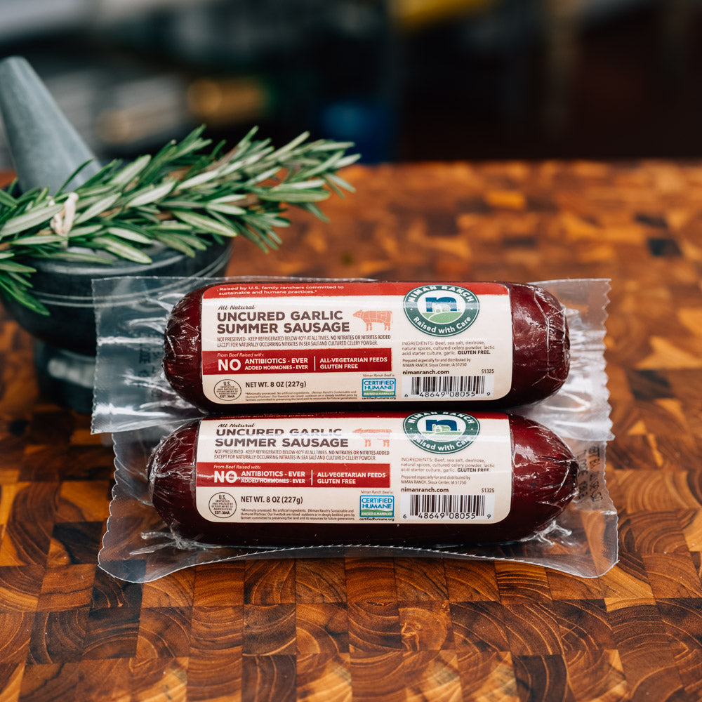 Niman Ranch Uncured Garlic Summer Sausage