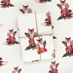 Thread Thief Fox Wrapping Paper