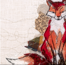 The Thread Thief Fox Embroidery Art Card