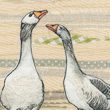The Gaggle Geese Embroidery Art Card