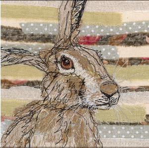 The Threadbare Hare Embroidery Art Card