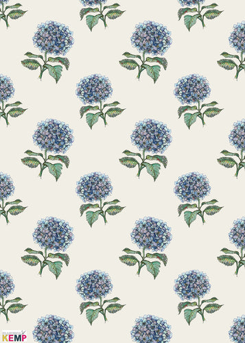 Midsummer Gather Hydrangea Wrapping Paper