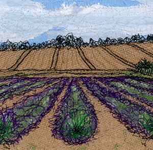 The Lavender Fields Embroidery Art Card