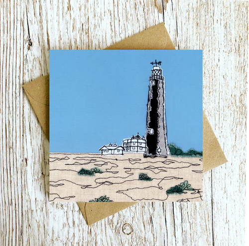 The Old Lighthouse Embroidery Art Card