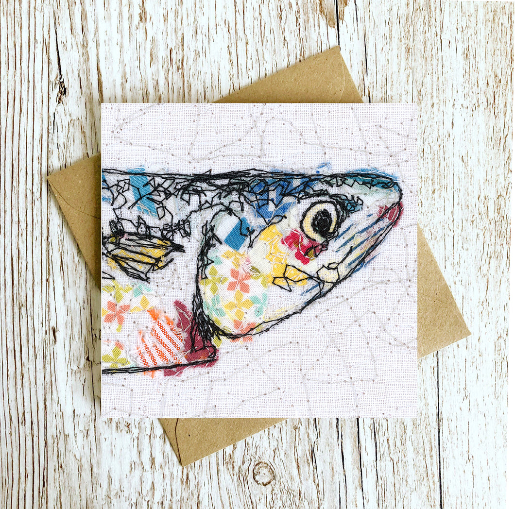 The Plenty of Fish Mackerel Embroidery Art Card
