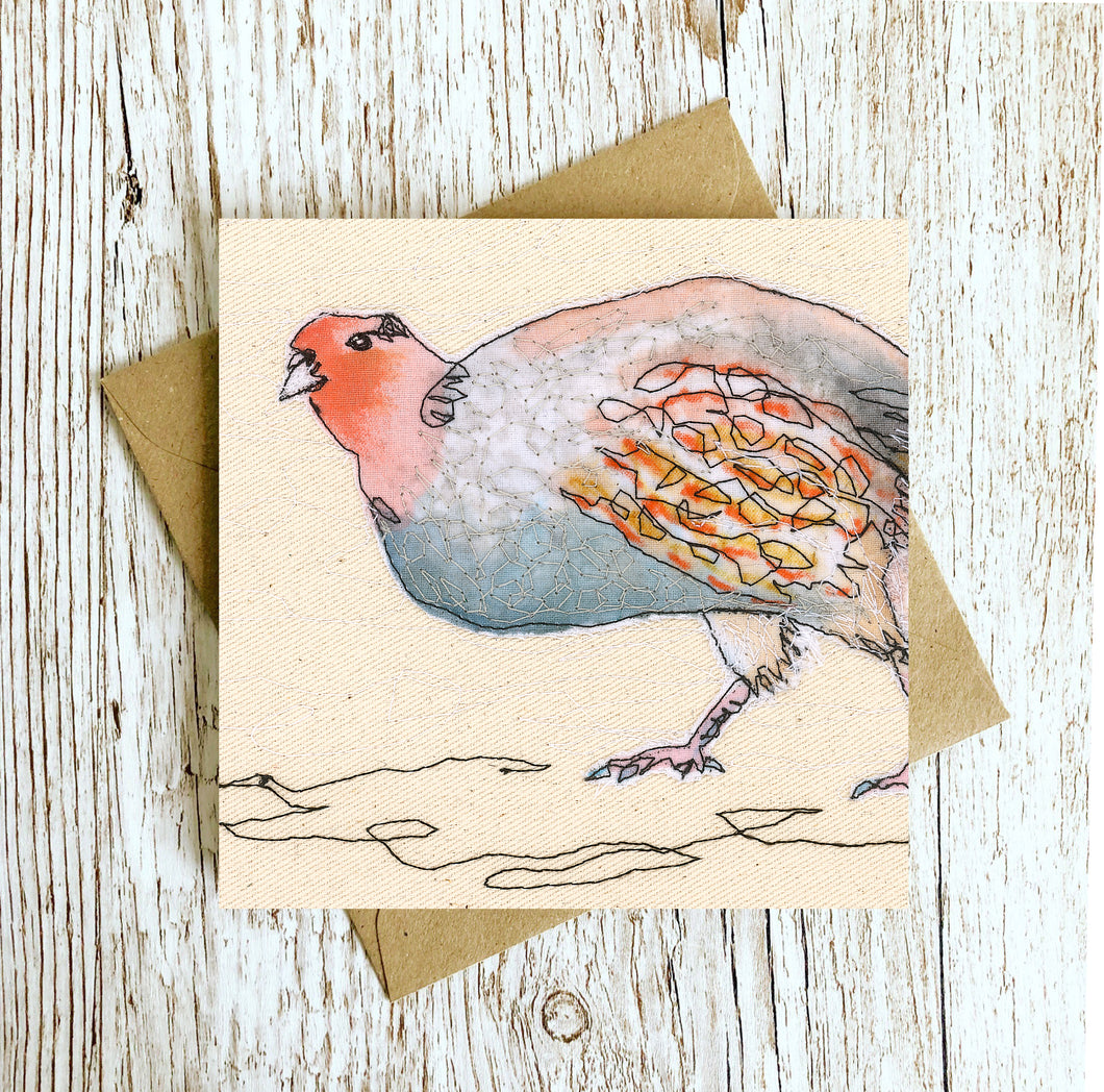 Patrick The Partridge Embroidery Art Card