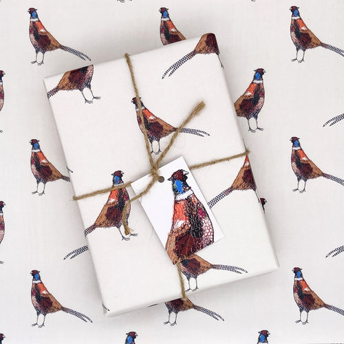 Furtive Field Pheasant Wrapping Paper