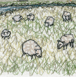 The Marsh Embroidery Art Card