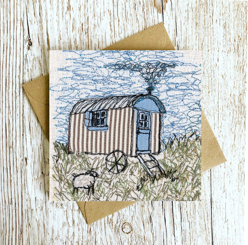 The Shepherd's Hut Embroidery Art Card