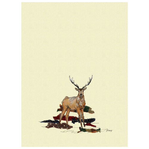 Stag Organic Tea Towel