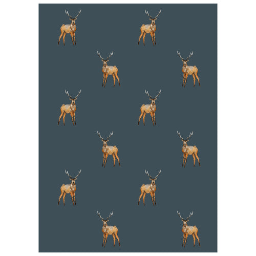 Stag Print Tea Towel