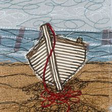 The Walmer Boat Embroidery Art Card