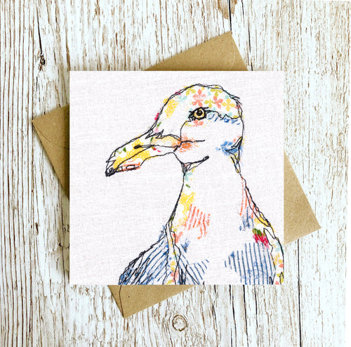 The Wingman Seagull Embroidery Art Card