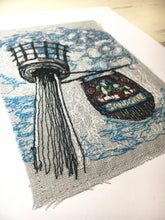 Sandgate Beacon Original Embroidery Artwork