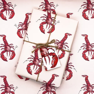 Lobster Love Wrapping Paper