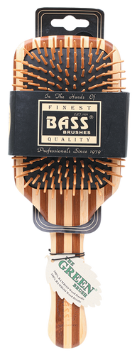 BASS BRUSHES Bamboo Wood Hair Brush  Large Square Paddle 1