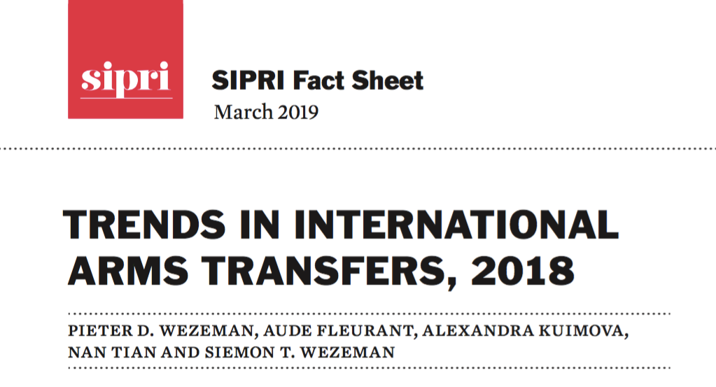 SIPRI : Trends in International Arms transfers - 2018