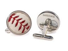 Load image into Gallery viewer, Authenticated Game Used Baseball Cufflinks- ANY TEAM