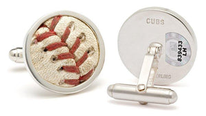 Authenticated Game Used Baseball Cufflinks- ANY TEAM