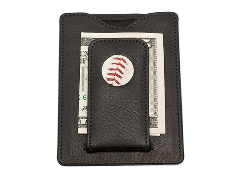 Game Used Chicago Cub Baseball Money Clip Wallet