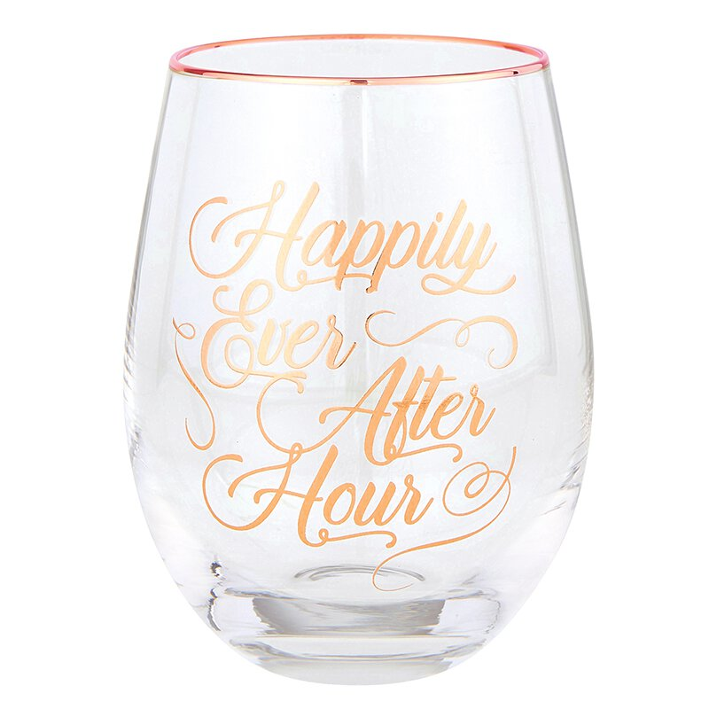 Happily Ever After Hour Wine Glass