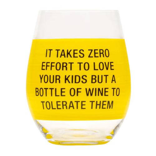 Zero Effort Wine Glass