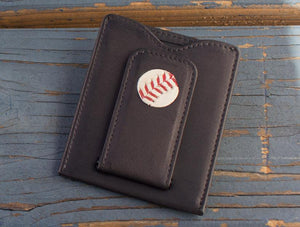 Game Used Baseball Money Clip Wallet